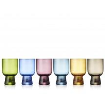 Lyngby Glas Tumbler 30 cl 6 stk i assorterede farver