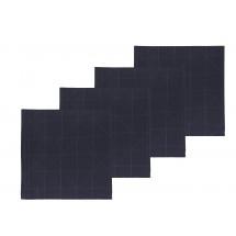 Södahl Damask servietter 4-pak 45x45 cm 100% økologi i indigo, Refined