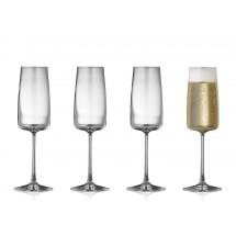 Lyngby Glas Champagneglas 30 cl 4 stk, ZERO
