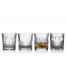 Lyngby Glas Whisky 4 stk assorteret: Oasis, Melodia, Fire og Tosca 30 cl, Selection