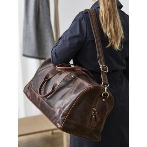 Corium Weekendtaske 52 x 25 x 25 cm i brun skind med et flot vintagelook