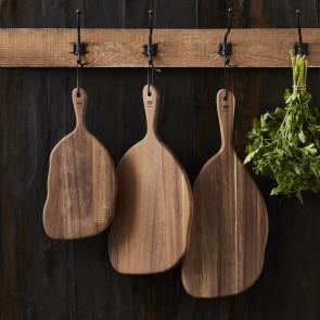HOLM Skære-/serveringsbræt 35,2 x 18,2 x 1,5 cm i akacietræ
