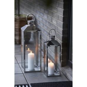 Scandinavia Gifts Lanterne i stål og glas 52,5 x 18 x 18 cm