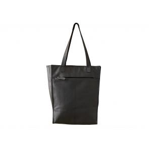 Corium Shopper i sort læder 33x18x40 cm med magnetlukning og indvendige lommer