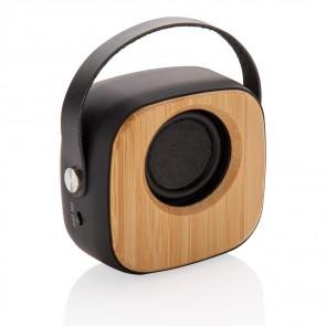 Fashion 3W trådløs bambus højtaler