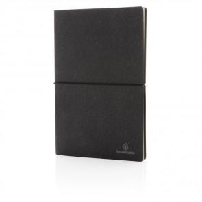 A5 notesbog i genbrugslæder