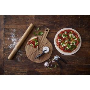 HOLM Pizzabræt med riller 44 x 36 x 1,9 cm i akacietræ