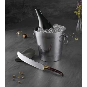 Bastian Champagne-/vinkøler dia. 20 cm højde 21 cm i blank aluminium