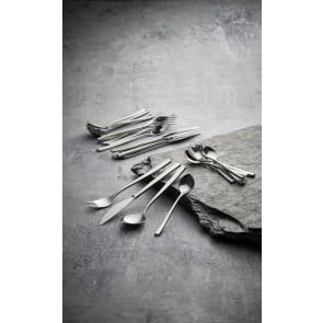 Gense Bestiksæt 32 dele samt serveringsgaffel og -ske i mat/blank stål, Fuga