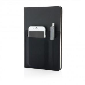 A5 luksus notesbog med telefonlomme