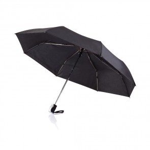 "Deluxe 21 5"" 2-i-1 paraply med automatisk åbning/lukning"