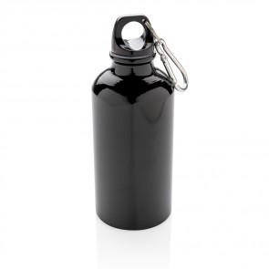 Aluminium genanvendelig sportsflaske med karabinkrog