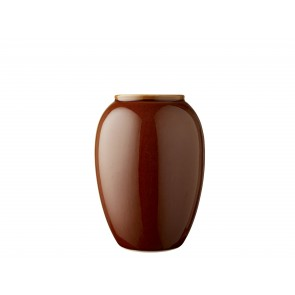 Bitz Vase 20 cm i amber