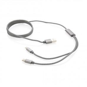 3 i 1 flettet kabel