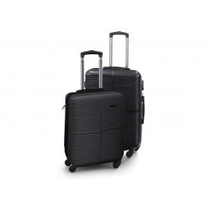 """Scandinavia Travel Kuffertsæt hardcase 20"""" & 24"""" i sort med TSA lås på den store kuffert"""
