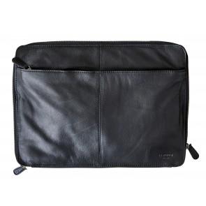 "Corium Sleeve i sort skind 37x27 cm, som passer til 13"" laptop"