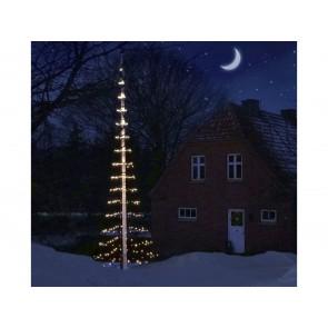 Scandinavia Gifts Lyskæde til flagstang, lysnet til 8 meter flagstang og 480 LED-lys i varm hvid