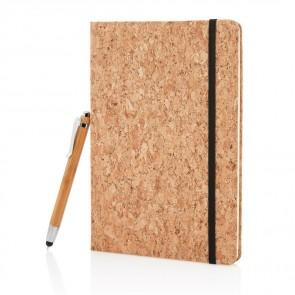 A5 notesbog med bambus styluspen