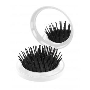Glance spejl med hårbørste