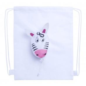 Kissa drawsting taske, zebra