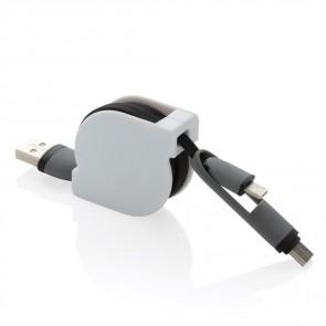 3 i 1 udtrækkeligt kabel