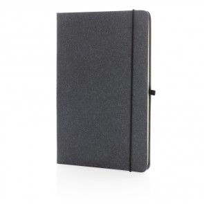 A5 hardcover notesbog i genbrugs læder