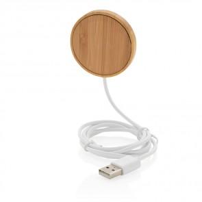 10w magnetisk trådløs oplader i bambus