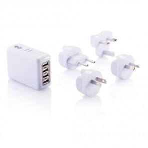 Rejsestik med 4 USB porte